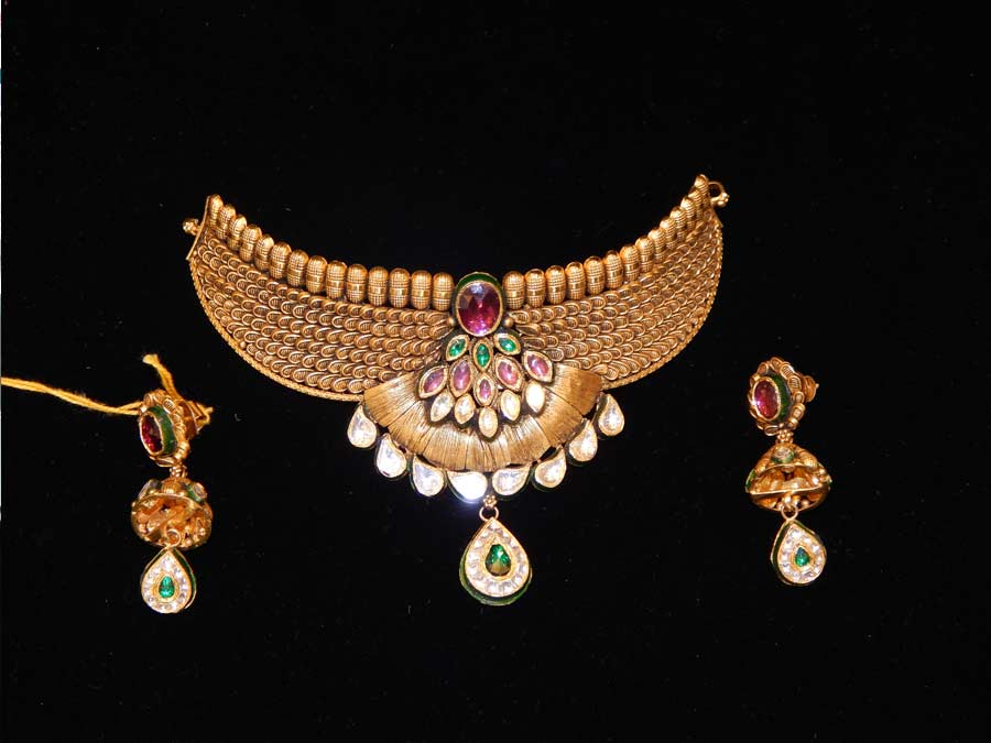 product design jewellers antique set khandelwal necklace