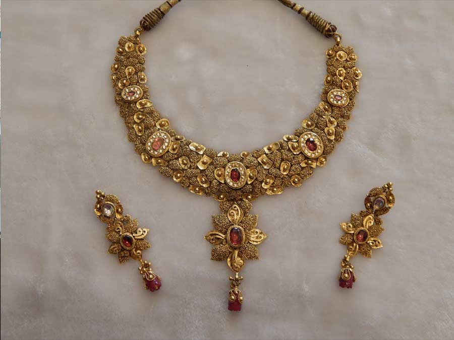 Antique Necklace Designs | V. L. Raka Jewellers. Bhiwandi, Kalyan ...