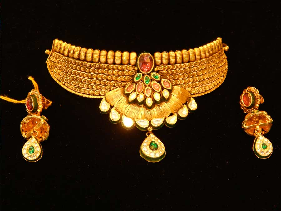 Antique Necklace Designs V L Raka Jewellers Bhiwandi Kalyan